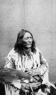 Photograph of Crowfoot, Head Chief of the Blackfoot Nation, 1887