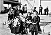 Photograph of a Scottish immigrant family upon arrival at Quebec, circa 1911