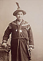 Photograph of John Sark, chief of the Prince Edward Island Mi'kmaq from 1910 to 1930