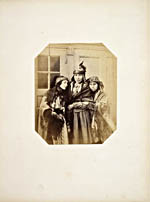 Photograph of three Mi'kmaq women, Saint George's Bay, Newfoundland, 1859