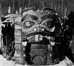 Photograph of headdress for Chief of Beaver clan from the Nass River, British Columbia, September 1941