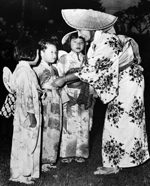 Photograph of Japanese Canadian children enjoying the Obon Odori (Gathering of Joy Festival) in Toronto, Ontario, July 1960