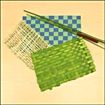 Photograph showing completed woven bulrush mats