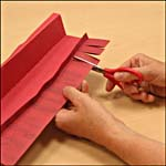 Photograph showing step 4 of how to make a paper lantern