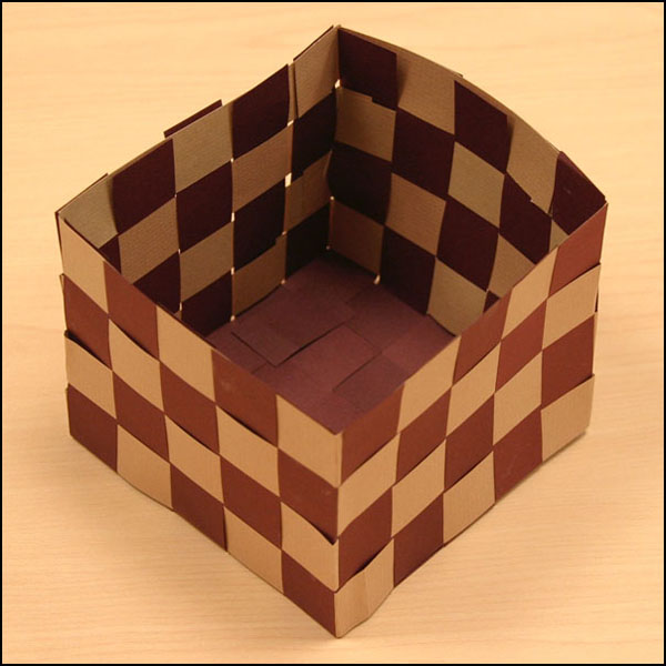 Basket Weaving Using Construction Paper : Archived woven paper basket activities the kids