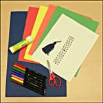 Photograph showing materials needed for Celtic knot-design bookmark