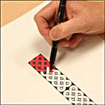 Photograph showing step 1 of how to make a Celtic knot-design bookmark