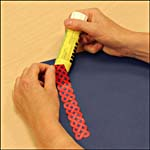 Photograph showing step 2 of how to make a Celtic knot-design bookmark