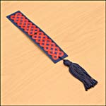 Photograph showing step 3 of how to make a Celtic knot-design bookmark