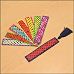 Photograph showing completed Celtic knot-design bookmarks