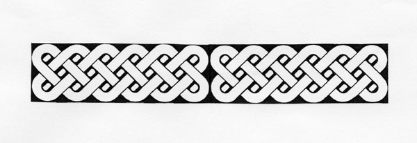 photograph regarding Printable Celtic Knot Patterns titled ARCHIVED - Celtic Knot-style Bookmark - Actions - The