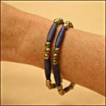 Photograph showing a porcupine quill-style bracelet