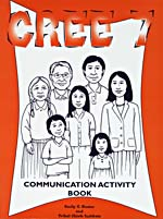 Drawing of a Cree family on the cover of an activity book, 2001