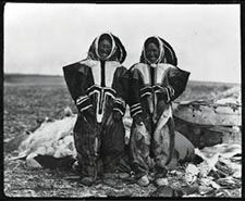 Photograph Of Copper Inuit Women Wearing Caribou Skin Clothing Coronation Gulf Northwest Territories