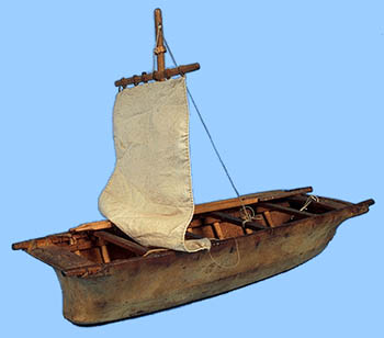 Source Model Of An Umiak With Sail HUDSON STRAIT Variety Typical The Eastern Arctic