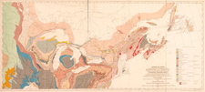 Carte intitulée GEOLOGICAL MAP OF CANADA, de William Logan, publiée en 1864