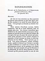 Ferdinand Gagnon's 1881 speech entitled DISCOURS SUR LA NATURALISATION ET LE RAPATRIEMENT PRONONCÉ À WORCESTER, MASS. EN SEPTEMBRE 1871, published in BIOGRAPHIE, ÉLOGE FUNÈBRE, PAGES CHOISIES, 1940
