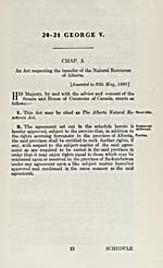 AN ACT RESPECTING THE TRANSFER OF THE NATURAL RESOURCES OF ALBERTA, 1930, (STATUTES OF CANADA)