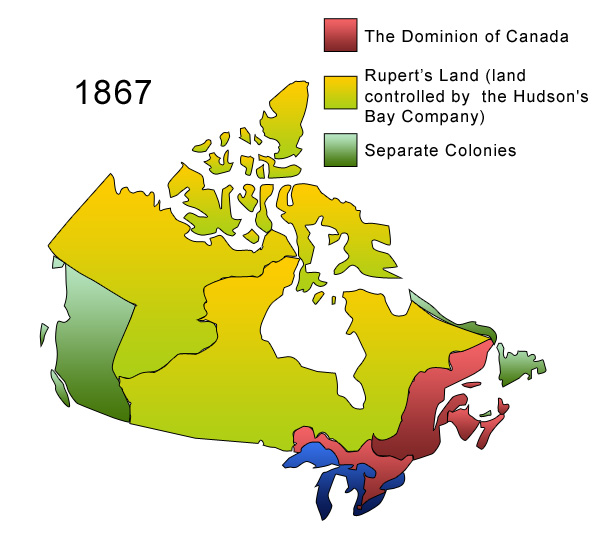 Map Of Canada During Confederation.Archived Going Country The Impact Of Confederation Making The