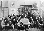 Photo montrant les membres du personnel de la Commission géologique du Canada, en 1888
