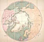 STANFORD'S MAP OF THE COUNTRIES ROUND THE NORTH POLE (Carte de Stanford représentant les pays entourant le pôle Nord), par Edward Stanford, 1876