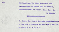 Typewritten document