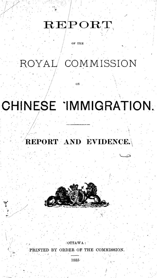 History of Canada's early Chinese immigrants - Library and