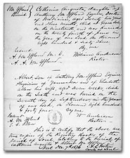 Burial certificate of Catherine Augusta and Albert, children of Anthony Von Iffland and Elisabeth Allen, 1844 and 1863. Library and Archives Canada, MG 8 F89, vol. 8, p. 4776-4777, reel C-14034