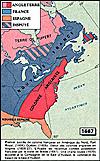 Carte de l'Amèrique du Nord (coté Est) en 1667
