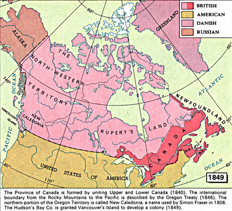 Map Of Canada During Confederation.Archived Map 1849 Maps 1667 1999 Canadian Confederation
