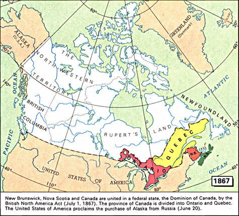 Map Of Canada During Confederation.Maps 1667 1999 Library And Archives Canada