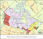 Map: Canada, 1871