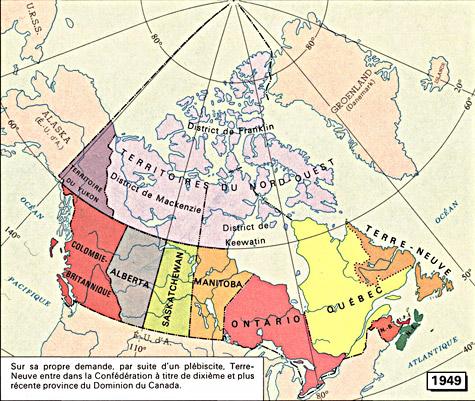 Carte Canada Manitoba.Archivee Carte 1949 Cartes 1667 1999 La Confederation