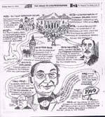 Cartoon: The Road to Confederation by Kevin Tobin in The Telegram, March 21, 1999, p.21
