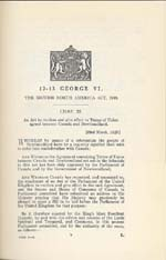 Document: An Act to confirm and give effect to Terms of Union of Newfoundland agreed between Canada and Newfoundland