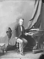Photo : L'honorable Samuel Leonard Tilley, député; Saint-Jean (N.-B.); février 1869