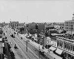 Photo : Avenue Jasper, Edmonton (Alberta), entre 1903 et 1914.