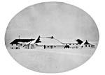 Photo : Fort Edmonton (Alberta). Poste de la Compagnie de la Baie d'Hudson, vers 1900