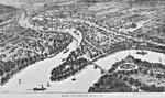 Woodcut: Bird's eye view of Winnipeg, 1882