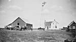 Photo : Ferme de monsieur A. Buhler Warman en Saskatchewan, vers 1910.