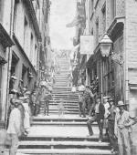Photograph: Québec, Casse-Cou stairs, ca. 1870-1872.