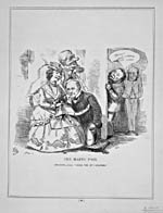 Caricature : « The Happy Pair » (L'heureux couple : John A. Macdonald et Joseph Howe)