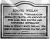 Photograph: Plaque at Charlottetown, to Hon. Edward Whelan