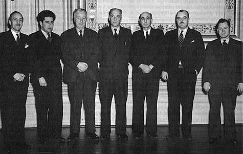 Photo : La délégation qui s'est rendue à Londres.