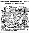 Bande dessinée par Kevin Tobin : « The Road to Confederation », « The Telegram », 21 mars 1999, p. 20.