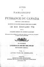 Document : « Acte à l'effet d'établir la province de la Saskatchewan et de pourvoir à son gouvernement », (titre abrégé : Acte de la Saskatchewan), Statuts du Canada 1905, c. 42, p. 201