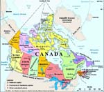 Map: Canada, 1999