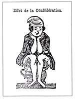 Caricature intitulée EFFET DE LA CONFÉDÉRATION