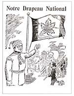 Caricature, NOTRE DRAPEAU NATIONAL