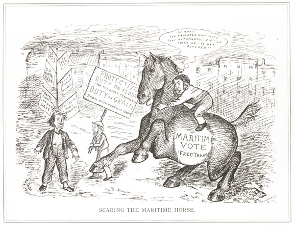 Caricature, SCARING THE MARITIME HORSE